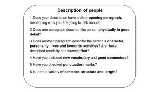 how to describe a person physically