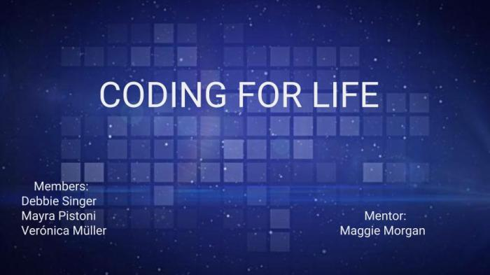 CODING FOR LIFE
